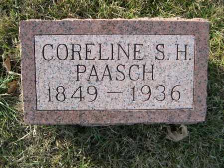 PAASCH, CORELINE S. H. - Douglas County, Nebraska   CORELINE S. H. PAASCH - Nebraska Gravestone Photos