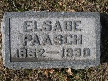 PAASCH, ELSABE - Douglas County, Nebraska   ELSABE PAASCH - Nebraska Gravestone Photos