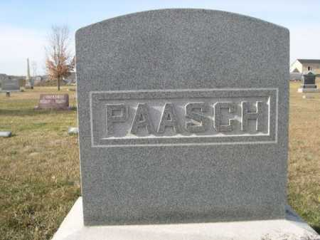 PAASCH, FAMILY - Douglas County, Nebraska | FAMILY PAASCH - Nebraska Gravestone Photos