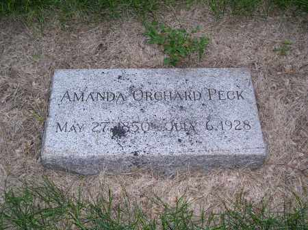 ORCHARD PECK, AMANDA - Douglas County, Nebraska | AMANDA ORCHARD PECK - Nebraska Gravestone Photos