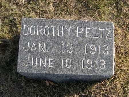 PEETZ, DOROTHY - Douglas County, Nebraska | DOROTHY PEETZ - Nebraska Gravestone Photos
