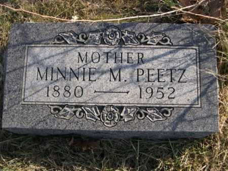 PEETZ, MINNIE M. - Douglas County, Nebraska | MINNIE M. PEETZ - Nebraska Gravestone Photos