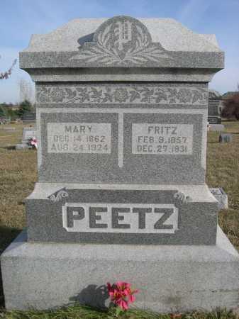 PEETZ, MARY - Douglas County, Nebraska   MARY PEETZ - Nebraska Gravestone Photos