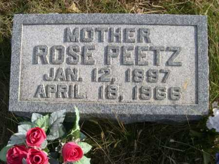 PEETZ, ROSE - Douglas County, Nebraska | ROSE PEETZ - Nebraska Gravestone Photos