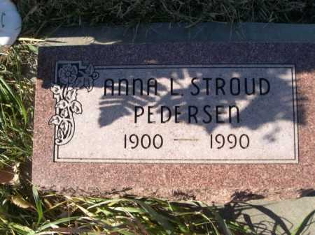 STROUD PEDERSEN, ANNA L. - Douglas County, Nebraska   ANNA L. STROUD PEDERSEN - Nebraska Gravestone Photos