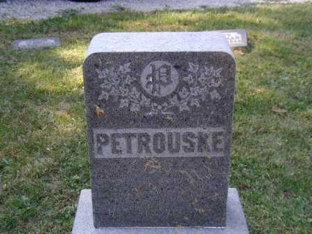 PETROUSKE, FAMILY MARKER - Douglas County, Nebraska | FAMILY MARKER PETROUSKE - Nebraska Gravestone Photos