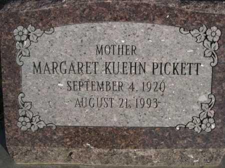 KUEHN PICKETT, MARGARET - Douglas County, Nebraska   MARGARET KUEHN PICKETT - Nebraska Gravestone Photos