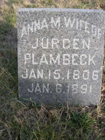 PLAMBECK, ANNA M. - Douglas County, Nebraska | ANNA M. PLAMBECK - Nebraska Gravestone Photos