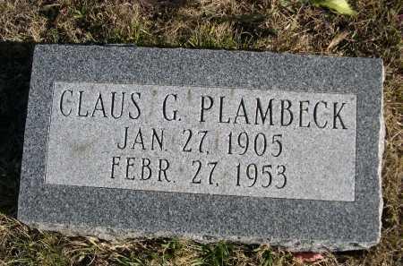 PLAMBECK, CLAUS G. - Douglas County, Nebraska | CLAUS G. PLAMBECK - Nebraska Gravestone Photos