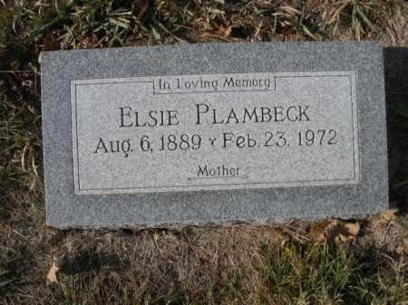 PLAMBECK, ELSIE - Douglas County, Nebraska | ELSIE PLAMBECK - Nebraska Gravestone Photos