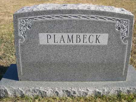 PLAMBECK, FAMILY - Douglas County, Nebraska   FAMILY PLAMBECK - Nebraska Gravestone Photos