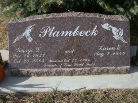PLAMBECK, GEORGE L. - Douglas County, Nebraska | GEORGE L. PLAMBECK - Nebraska Gravestone Photos