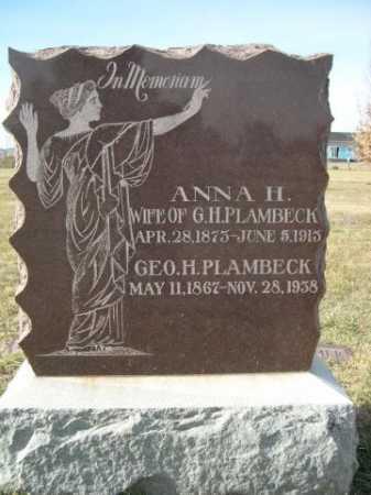 PLAMBECK, ANNA H. - Douglas County, Nebraska | ANNA H. PLAMBECK - Nebraska Gravestone Photos