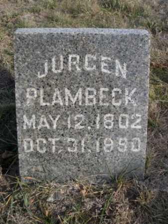 PLAMBECK, JURGEN - Douglas County, Nebraska | JURGEN PLAMBECK - Nebraska Gravestone Photos