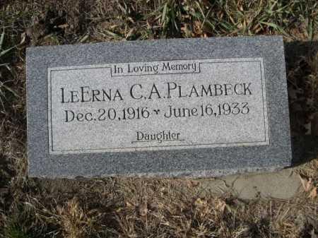 PLAMBECK, LEERNA C. A. - Douglas County, Nebraska | LEERNA C. A. PLAMBECK - Nebraska Gravestone Photos