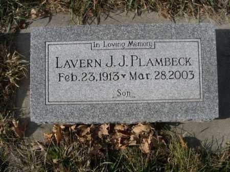PLAMBECK, LAVERN J.J. - Douglas County, Nebraska | LAVERN J.J. PLAMBECK - Nebraska Gravestone Photos