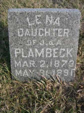 PLAMBECK, LENA - Douglas County, Nebraska | LENA PLAMBECK - Nebraska Gravestone Photos