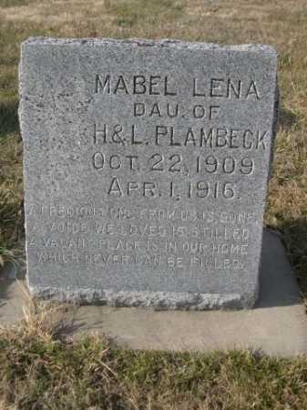 PLAMBECK, MABEL LENA - Douglas County, Nebraska | MABEL LENA PLAMBECK - Nebraska Gravestone Photos