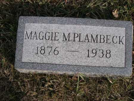 PLAMBECK, MAGGIE M. - Douglas County, Nebraska | MAGGIE M. PLAMBECK - Nebraska Gravestone Photos