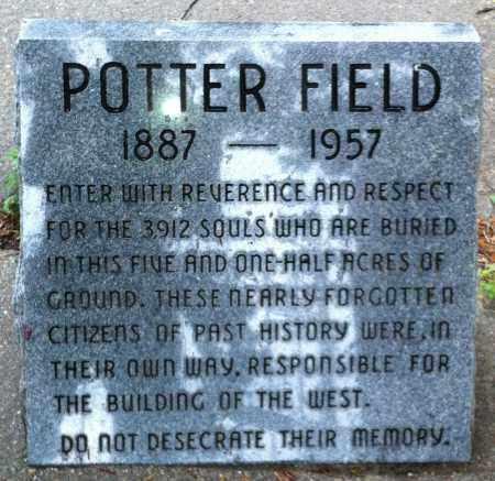 *POTTER'S FIELD CEMETERY, SIGN - Douglas County, Nebraska   SIGN *POTTER'S FIELD CEMETERY - Nebraska Gravestone Photos