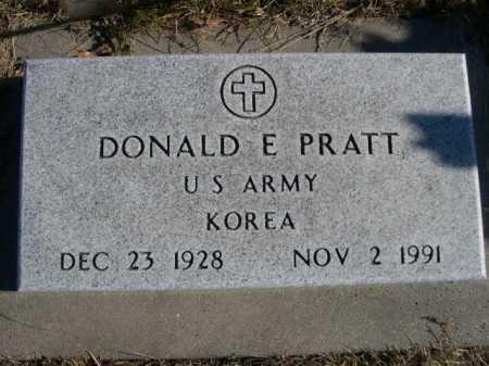 PRATT, DONALD E. - Douglas County, Nebraska   DONALD E. PRATT - Nebraska Gravestone Photos