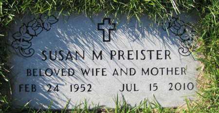 PREISTER, SUSAN M. - Douglas County, Nebraska | SUSAN M. PREISTER - Nebraska Gravestone Photos