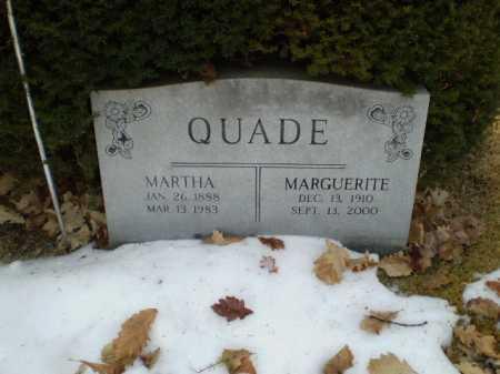 QUADE, MARGUERITE - Douglas County, Nebraska | MARGUERITE QUADE - Nebraska Gravestone Photos
