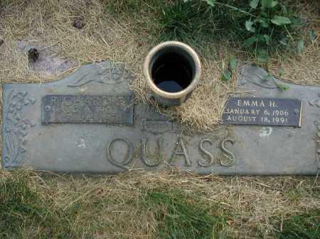 QUASS, EMMA H - Douglas County, Nebraska | EMMA H QUASS - Nebraska Gravestone Photos