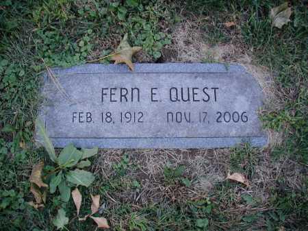 QUEST, FERN E - Douglas County, Nebraska | FERN E QUEST - Nebraska Gravestone Photos