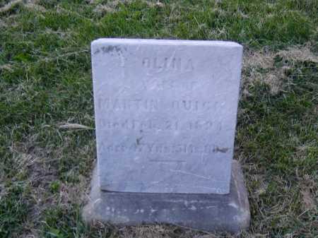 QUICK, OLINA - Douglas County, Nebraska   OLINA QUICK - Nebraska Gravestone Photos