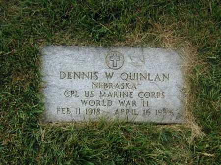 QUINLAN, DENNIS W - Douglas County, Nebraska | DENNIS W QUINLAN - Nebraska Gravestone Photos