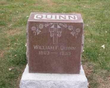 QUINN, WILLIAM F. - Douglas County, Nebraska   WILLIAM F. QUINN - Nebraska Gravestone Photos