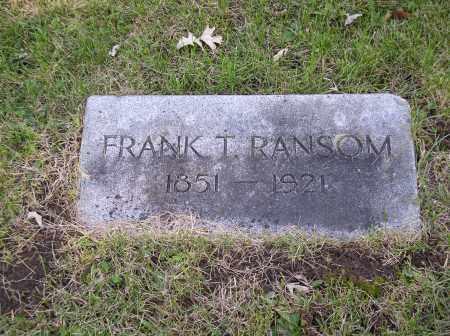 RANSOM, FRANK T. - Douglas County, Nebraska | FRANK T. RANSOM - Nebraska Gravestone Photos