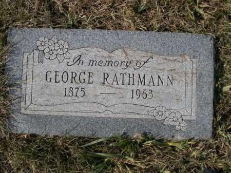 RATHMANN, GEORGE - Douglas County, Nebraska   GEORGE RATHMANN - Nebraska Gravestone Photos