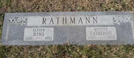 RATHMANN, HANS - Douglas County, Nebraska | HANS RATHMANN - Nebraska Gravestone Photos