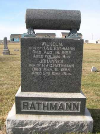 RATHMANN, JOHANNES - Douglas County, Nebraska   JOHANNES RATHMANN - Nebraska Gravestone Photos