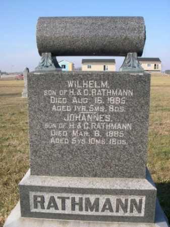 RATHMANN, WILHELM - Douglas County, Nebraska | WILHELM RATHMANN - Nebraska Gravestone Photos