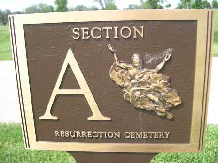 *RESURECTION CEMETERY, SECTION SIGN - Douglas County, Nebraska | SECTION SIGN *RESURECTION CEMETERY - Nebraska Gravestone Photos