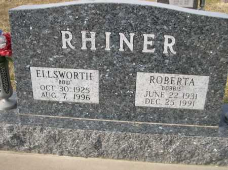 "RHINER, ROBERTA ""BOBBIE"" - Douglas County, Nebraska | ROBERTA ""BOBBIE"" RHINER - Nebraska Gravestone Photos"