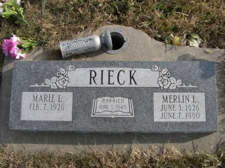 RIECK, MARIE L. - Douglas County, Nebraska | MARIE L. RIECK - Nebraska Gravestone Photos