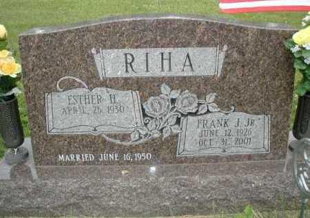 RIHA, JR., FRANK J - Douglas County, Nebraska   FRANK J RIHA, JR. - Nebraska Gravestone Photos