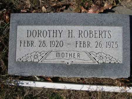 ROBERTS, DOROTHY H. - Douglas County, Nebraska | DOROTHY H. ROBERTS - Nebraska Gravestone Photos