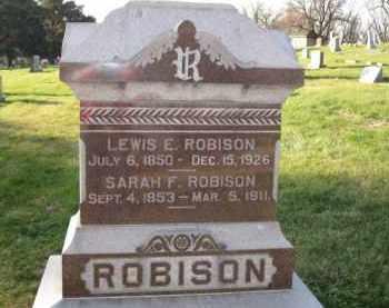 ROBISON, SARAH F. - Douglas County, Nebraska | SARAH F. ROBISON - Nebraska Gravestone Photos