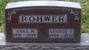 ROHWER, GEORGE D. - Douglas County, Nebraska | GEORGE D. ROHWER - Nebraska Gravestone Photos