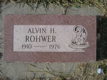 ROHWER, ALVIN H. - Douglas County, Nebraska | ALVIN H. ROHWER - Nebraska Gravestone Photos