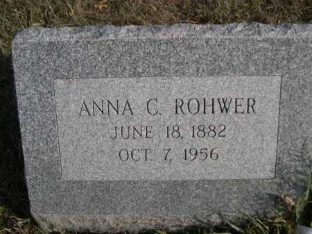 ROHWER, ANNA C. - Douglas County, Nebraska | ANNA C. ROHWER - Nebraska Gravestone Photos