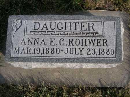 ROHWER, ANNA E. C. - Douglas County, Nebraska | ANNA E. C. ROHWER - Nebraska Gravestone Photos