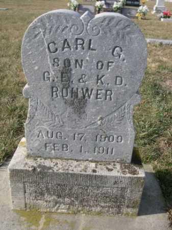 ROHWER, CARL G. - Douglas County, Nebraska | CARL G. ROHWER - Nebraska Gravestone Photos
