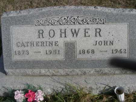 ROHWER, CATHERINE - Douglas County, Nebraska | CATHERINE ROHWER - Nebraska Gravestone Photos