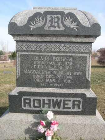 ROHWER, CLAUS - Douglas County, Nebraska | CLAUS ROHWER - Nebraska Gravestone Photos